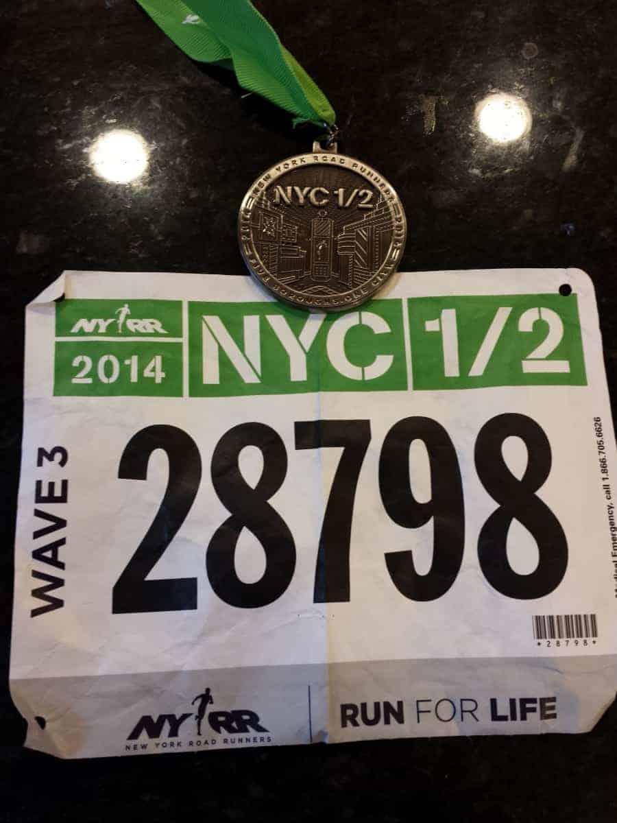 NYC Half medal