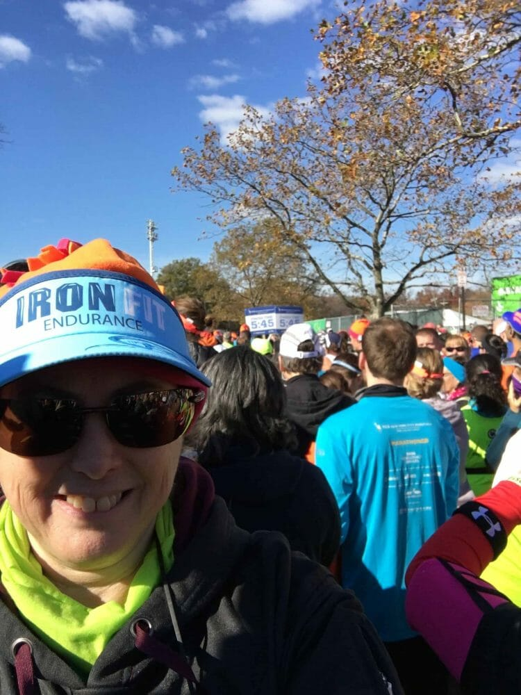 Hilary Topper at the NYC Marathon in 2016