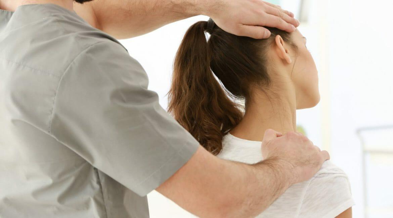 Chiropractor giving adjustment