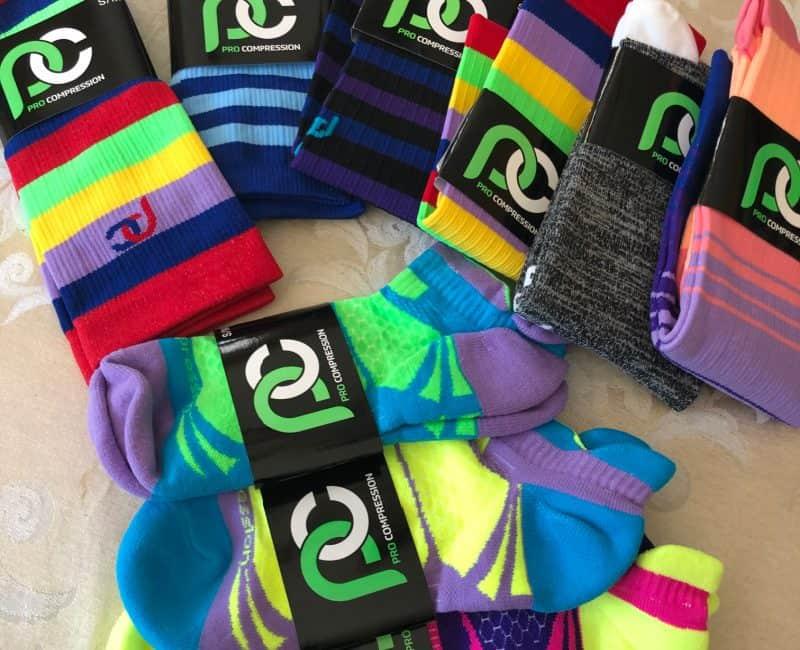 colorful procompression socks