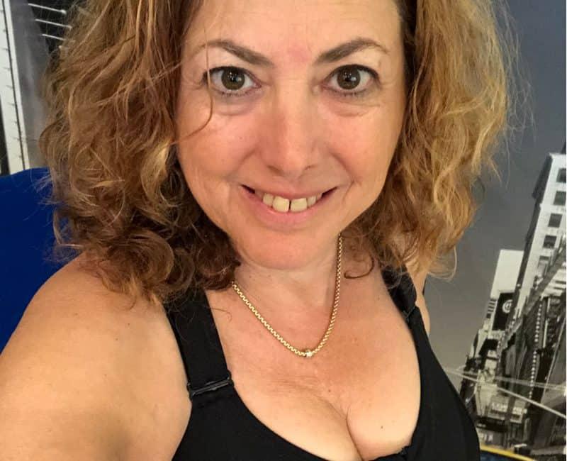 Hilary Topper wearing Shefit bra