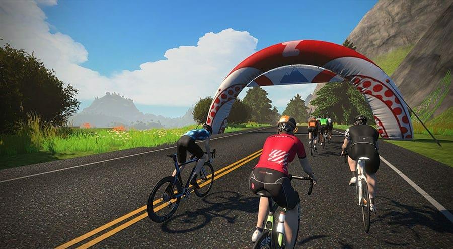 Zwift cycling
