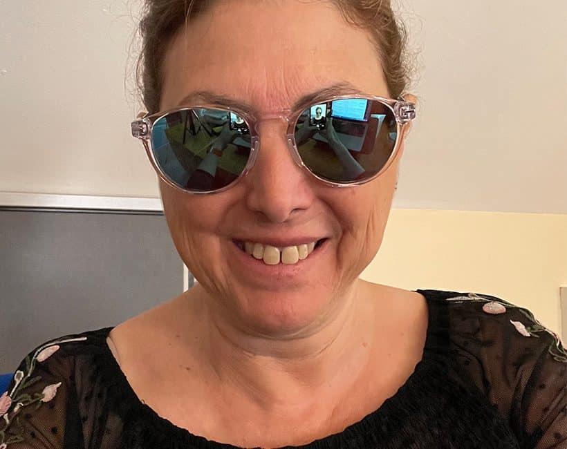 HilaryTopper in her new Roka Progressive Sunglasses