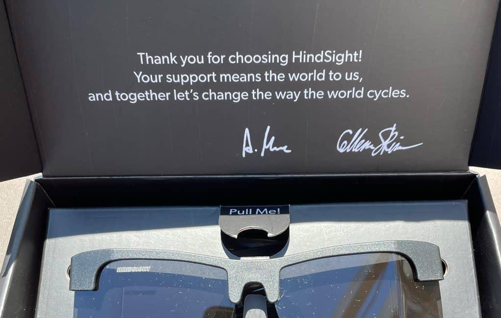 Hindsight cycling glasses