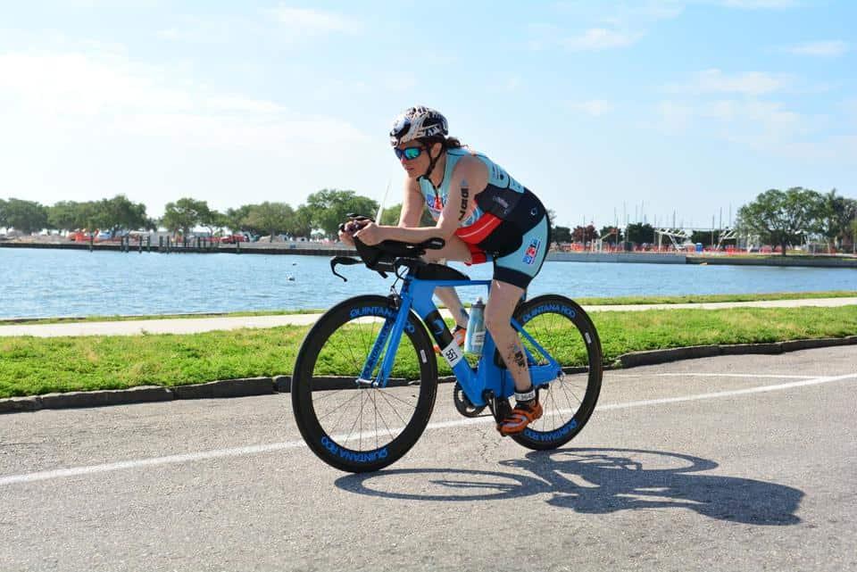 Hilary on her QR bike